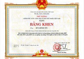 Máy ấp trứng Bảo Tín được thử tướng trao tặng bằng khen
