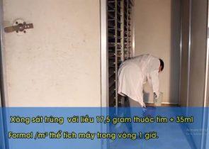 vệ sinh và xông sát trùng máy ấp trứng