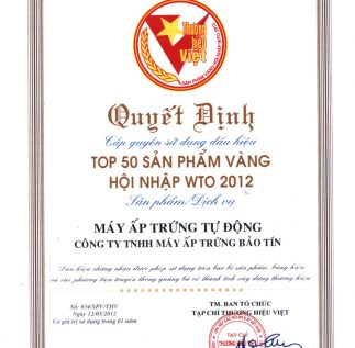 Máy ấp trứng tự động TOP 50 Thương Hiệu Việt